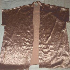 Shimmy rose gold kimono